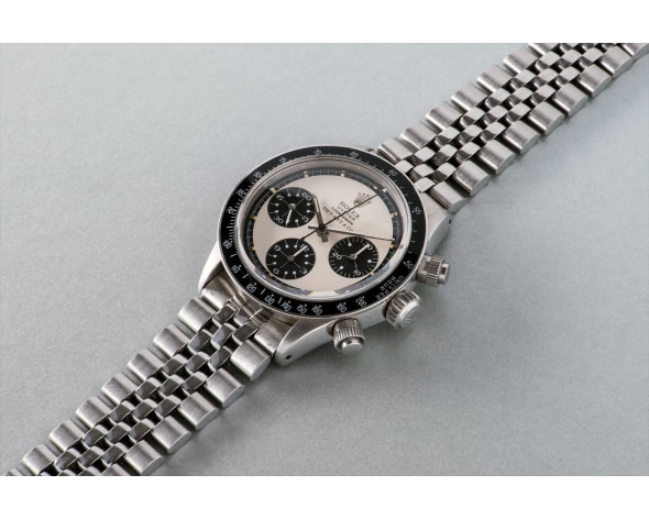 ROLEX An important and highly attractive stainless steel chronograph wristwatch retailed by Tiffany, reference 6263. Manufactured circa 1970.