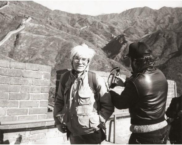 ANDY WARHOL Andy Warhol at the Great Wall, 1982