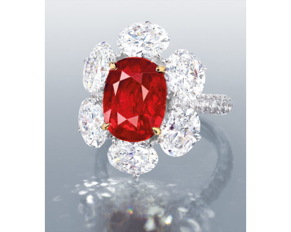A Rare and Very Fine Ruby and Diamond Ring