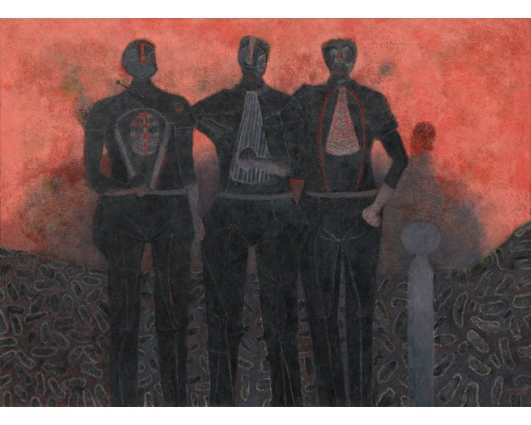RUFINO TAMAYO Tres amigos, 1987