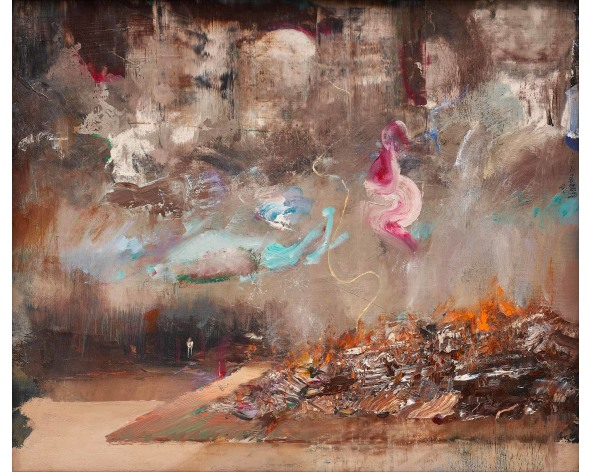 ADRIAN GHENIE Burning Books, 2014