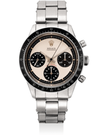 "Rolex - An extremely rare and attractive stainless steel chronograph wristwatch with ""Paul Newman"" dial and bracelet"