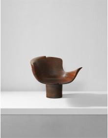 """Wendell Castle - Unique """"Pedestal"""" chair"""