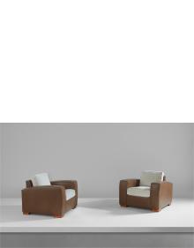 Paul Dupré-Lafon - Pair of armchairs