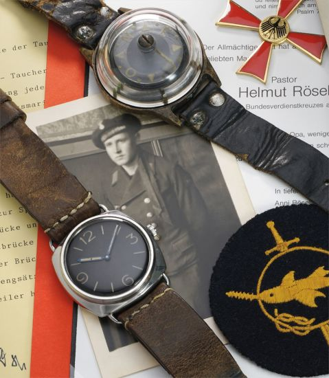 A rare, historically interesting and well-documented stainless steel wristwatch with movement and case by Rolex, formerly owned by combat swimmer Helmut Rösel