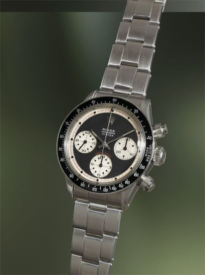 An exceptionally rare and highly attractive stainless steel chronograph wristwatch with 'Oyster Sotto' dial and bracelet