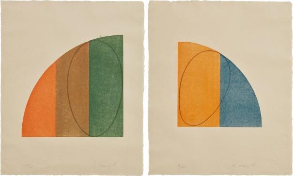 Curved Plane/Figure II; and Curved Plane/Figure III