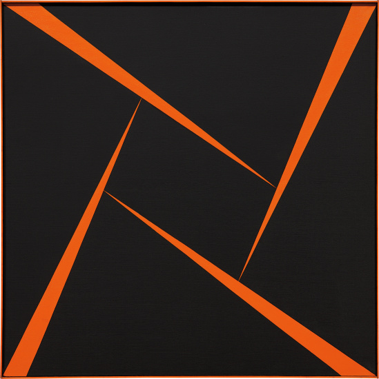 Untitled (Orange and Black)