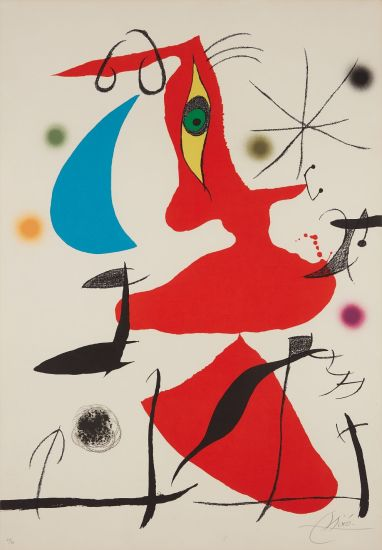 Oda à Joan Miró (Ode to Joan Miró): plate VII
