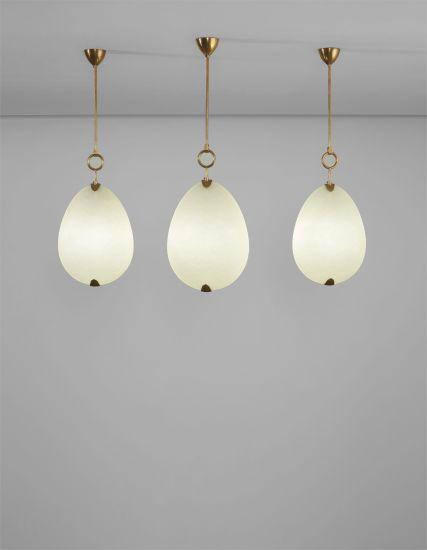 Set of three ceiling lights