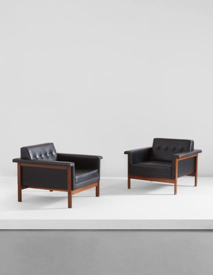 "Pair of ""Canada"" armchairs"
