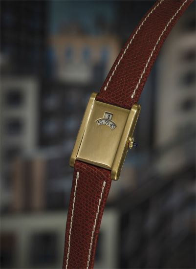 A possibly unique and highly attractive yellow gold rectangular jump hour wristwatch with movement by European Watch and Clock Co.