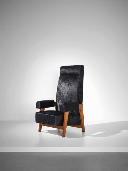 Rare 'Court's President' armchair, designed for the High Court, Chandigarh