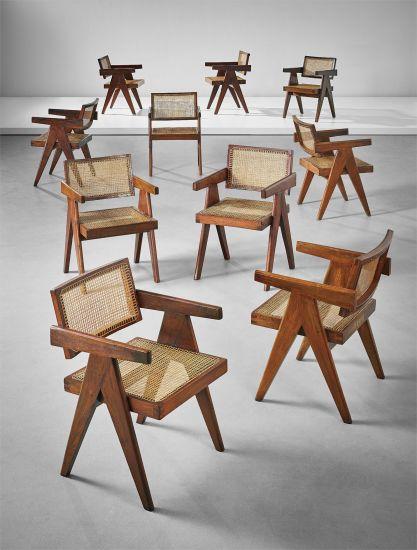 Ten armchairs