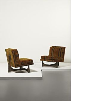 Paul Evans Rare Pair Of Chairs. Sold For $ 37,500