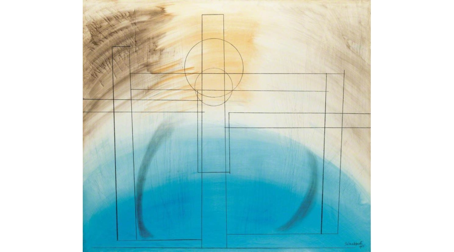 Barbara Hepworth Construction 1, 1965. Oil pencil on gesso-prepared board. The Ingram Collection, © Bowness