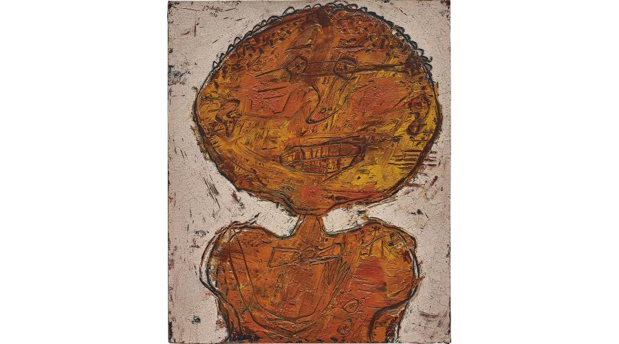 JEAN DUBUFFET Mademoiselle mine orange, 1950
