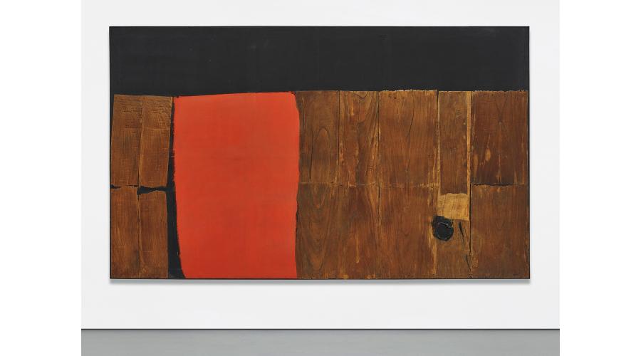 ALBERTO BURRI Grande legno e rosso, 1957-1959