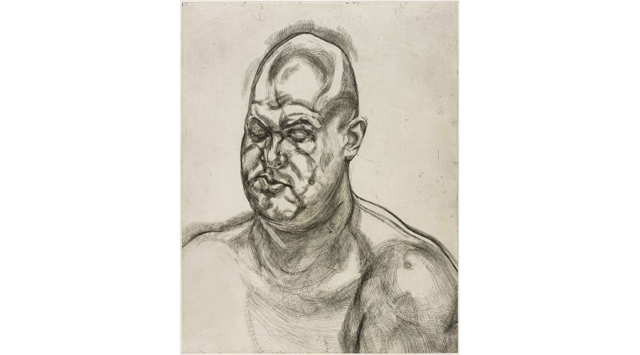 LUCIAN FREUD Large Head, 1993