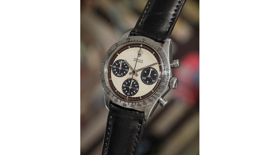 ROLEX Paul Newman's 'Paul Newman' Daytona, ref. 6239. An iconic, highly attractive and historically important stainless steel chronograph wristwatch with multi-color 'exotic' dial, manufactured in 1968.