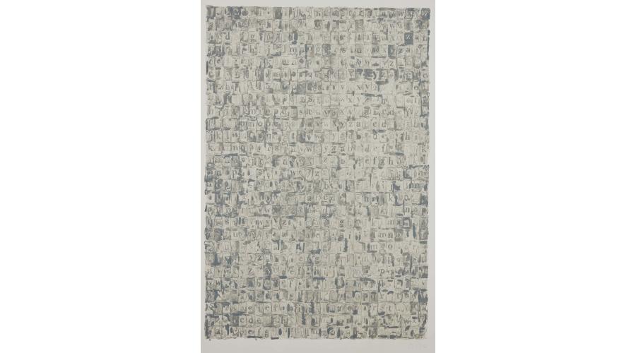 JASPER JOHNS, Gray Alphabets, 1968