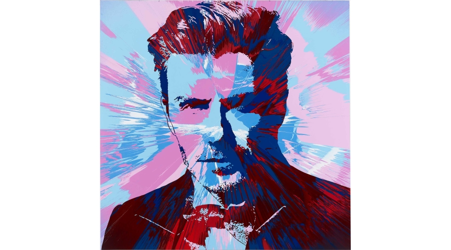 DAMIEN HIRST Beautiful David Beckham Spin Painting for Positive View, 2015