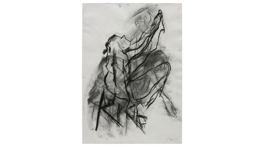 JOE HEWLETT Untitled, 2017. Charcoal on paper.