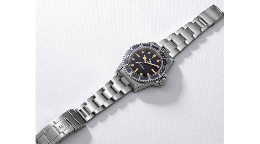 ROLEX Ref. 5513, a rare stainless steel diver's wristwatch with bracelet and 'pre-COMEX' dial