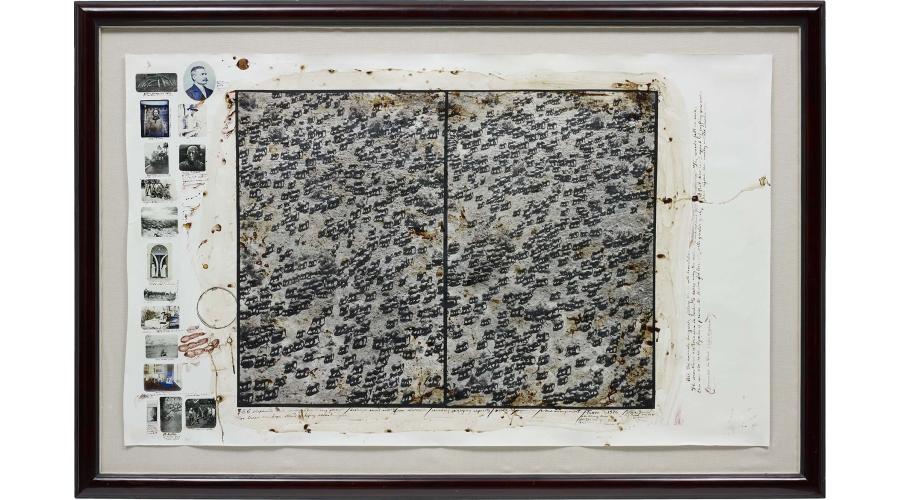 PETER BEARD 756 Elephants in a misery likes company formation, Tsavo, 1976