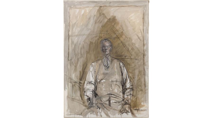 ALBERTO GIACOMETTI Portrait of G. David Thompson, 1957