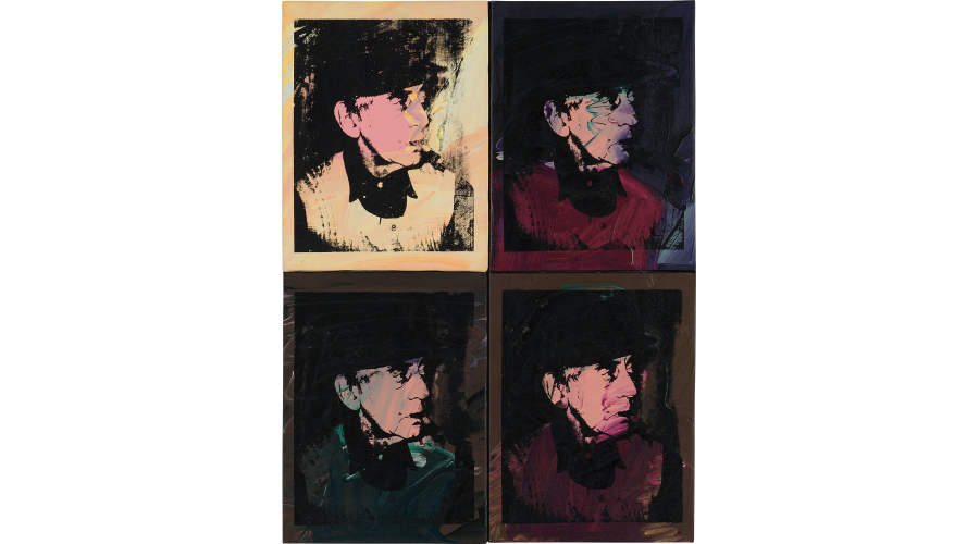 ANDY WARHOL Four Works: Man Ray, 1974