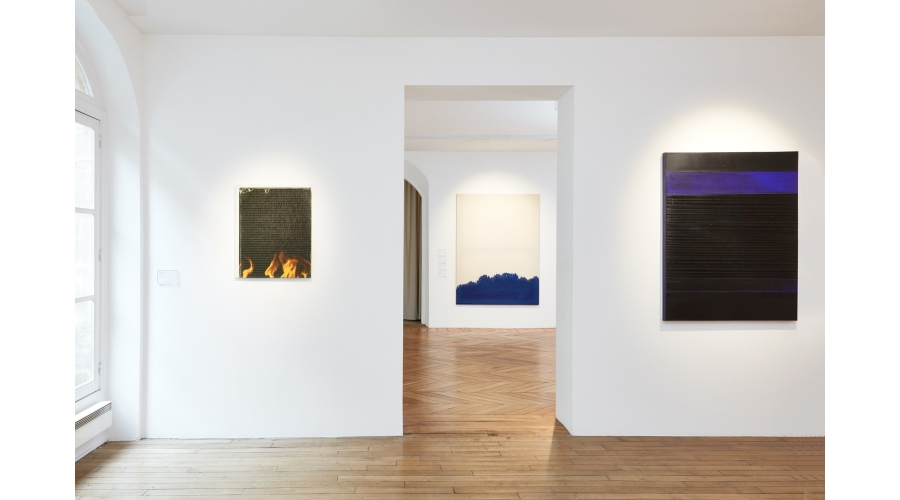Works by Wade Guyton, Latifa Echakhch and Pierre Soulages