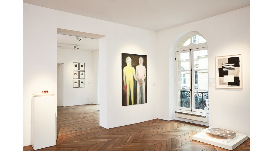 Works by Jean-Pierre Raynaud, Elaine Sturtevant, Miriam Cahn, Sean Scully and Michel Francois