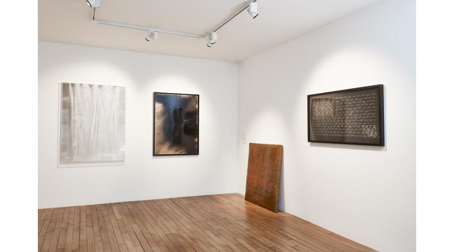 Works by Claudio Parmiggiani, Loris Gréaud, Guillaume Leblon, and Mircea Cantor
