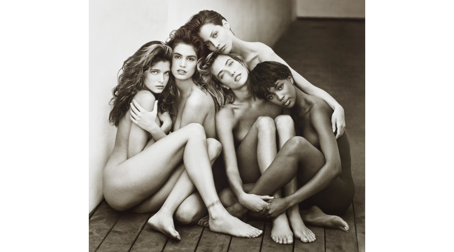HERB RITTS Stephanie, Cindy, Christy, Tatjana, Naomi, Hollywood, 1989