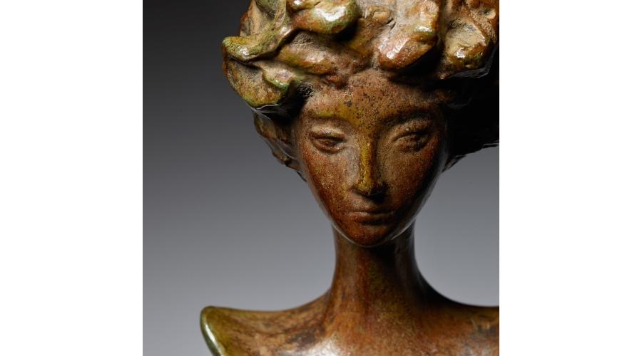ALBERTO GIACOMETTI 'Tête de femme' table lamp, designed circa 1934, later cast