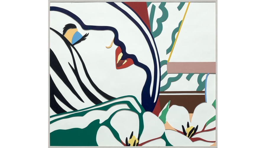 TOM WESSELMANN   Bedroom Face with Green Wallpaper (Variation), 1983-1985