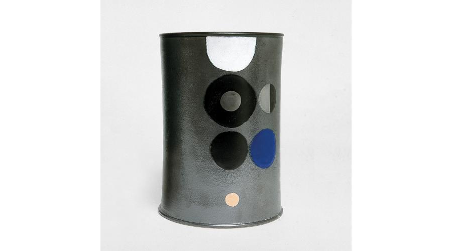 ETTORE SOTTSASS 'Ceramic of Darkness', unique hand painted piece, Galleria Il Sestante, Milan, 1963