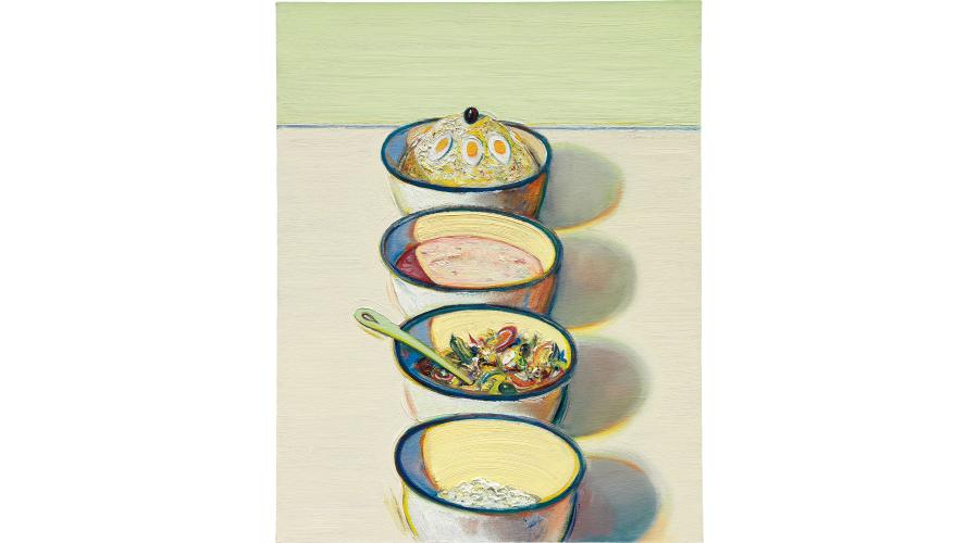 WAYNE THIEBAUD Food Bowls, 2005