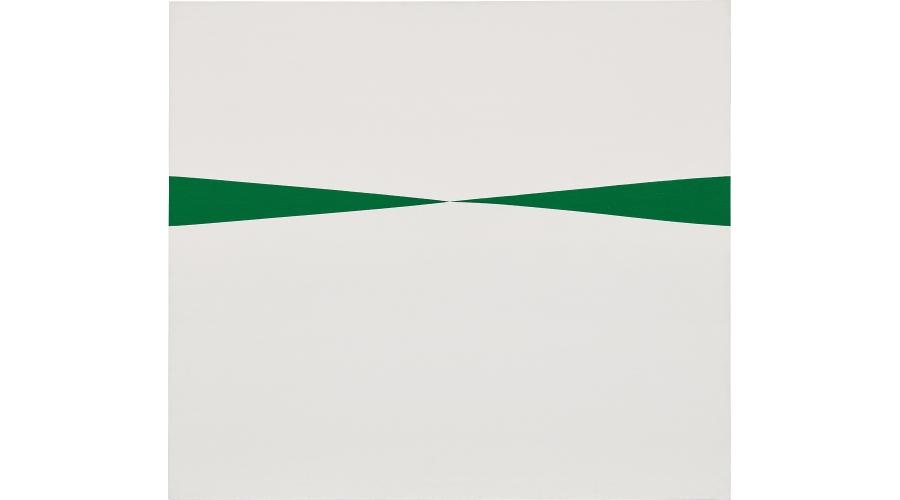 CARMEN HERRERA Blanco y Verde, 1966