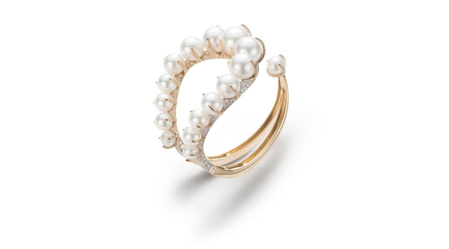 A Pearl and Diamond 'Mirian' Bracelet