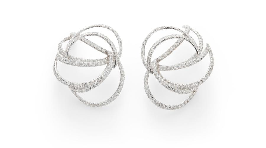 A Pair of Diamond 'Martha' Earrings