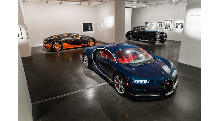 All three models on view at Phillips New York © Bugatti Automobiles S.A.S.