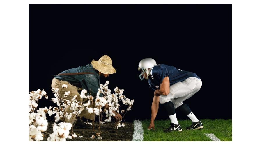HANK WILLIS THOMASThe Cotton Bowl, from the series Strange Fruit, 2011©Hank Willis Thomas, courtesy of the artist and JackShainmanGallery, New York.