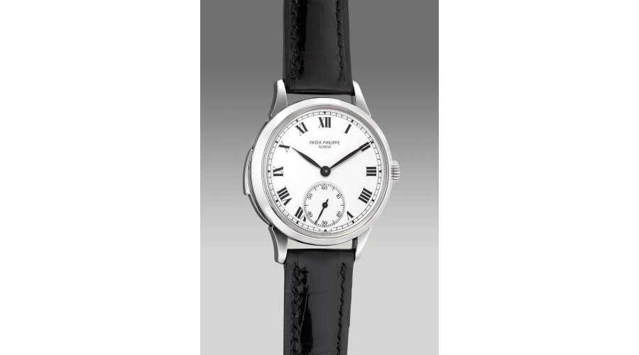 PATEK PHILIPPE reference 3979P, a very rare and extremely fine platinum minute repeating wristwatch with enamel dial, certificate of origin and additional solid case back, 1996