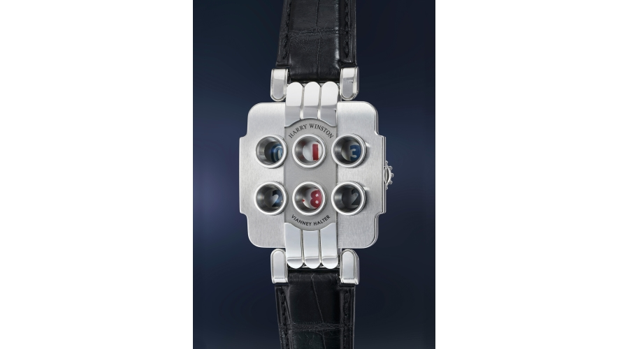 An incredibly rare, unusual and interesting limited edition Harry Winston Opus 3 with digital display of time, date and countdown features