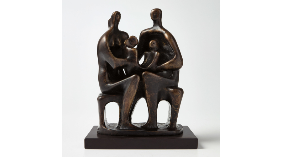 HENRY MOORE Family Group, 1947