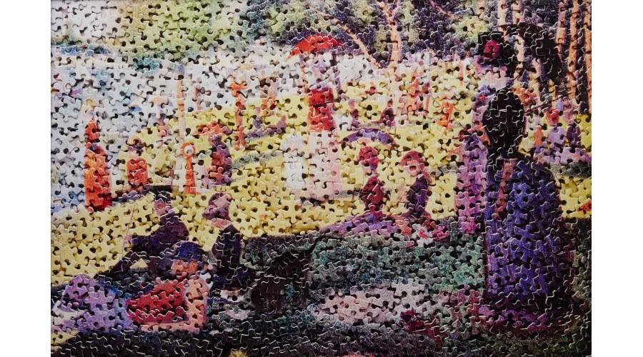 VIK MUNIZ A Sunday on La Grande Jatte, after Georges Seurat from Gordian Puzzles, 2009