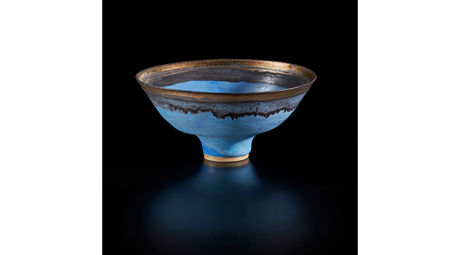 LUCIE RIE Footed bowl, 1985
