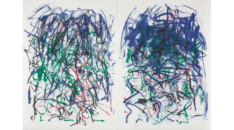 JOAN MITCHELL Sunflowers II (diptych), 1992